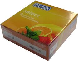 bao cao su cao cấp, Bao cao su hương thơm Durex Select - mùi cam dâu chuối
