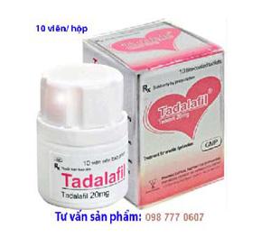 xuat tinh som, Tadalafil 20mg điều trị rối loạn cương dương